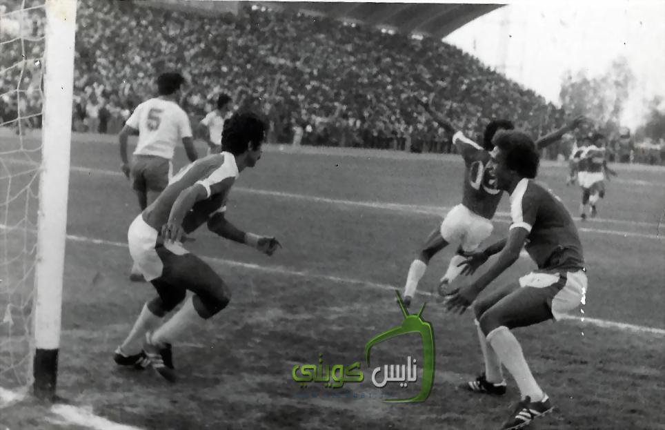 فرحة لاعبين المنتخب لحظة تسجيل جاسم يعقوب هدف