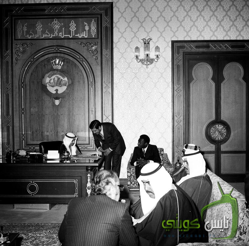 الشيخ - صباح السالم طيب الله يستقبل فريق سانت